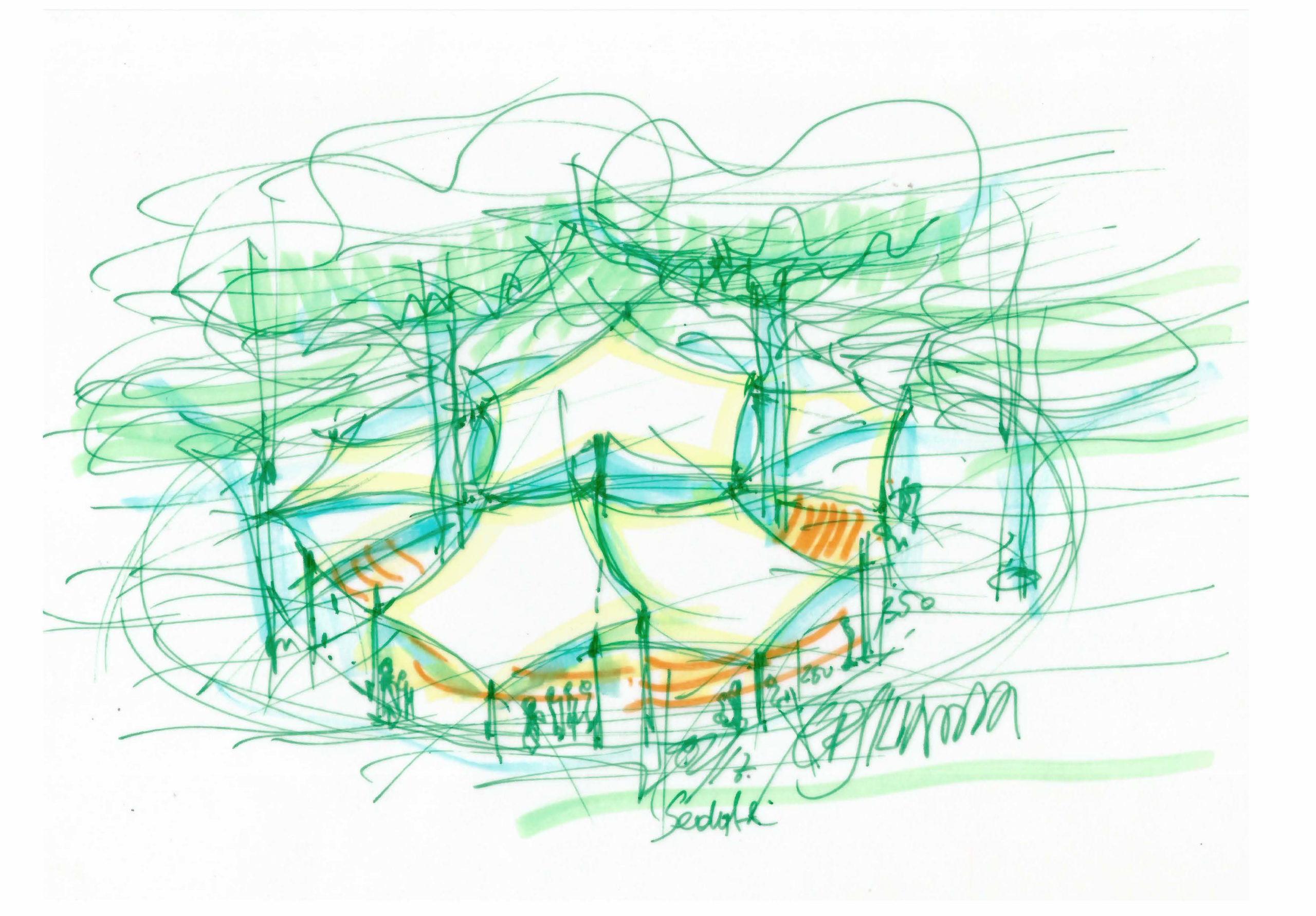 (2017)-Spazio incontri -protezione ambientale -Villa Versiliana- Lucca (concorso)