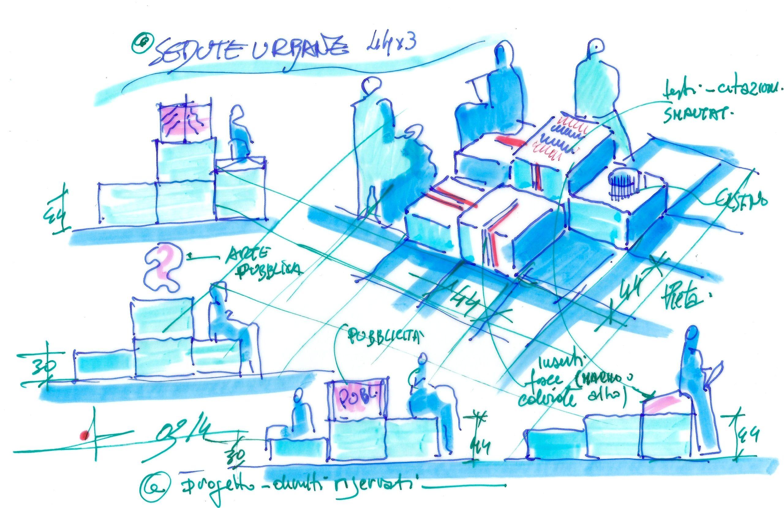 (2013) – Fioriere, sedute e dissuasori   Studio