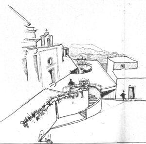 4 complesso schizzo chiesa 1977